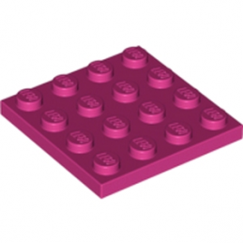 LEGO 4163594  PLATE 4X4 - MAGENTA