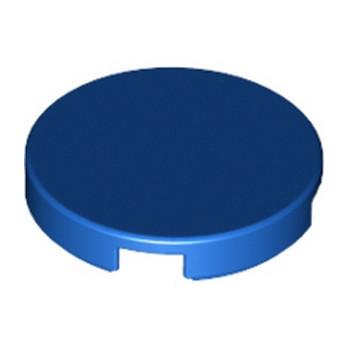 LEGO 6133844 - Plate Lisse 2X2, Rond - Bleu
