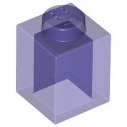 LEGO 6066120 BRIQUE 1X1 - VIOLET TRANSPARENT