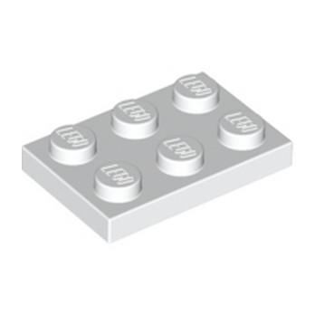 LEGO 302101 PLATE 2X3 - BLANC