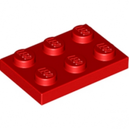 LEGO 302121 PLATE 2X3 - ROUGE