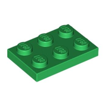 LEGO 302128  PLATE 2X3 - DARK GREEN