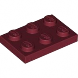 LEGO 4177047  PLATE 2X3 - New Dark Red
