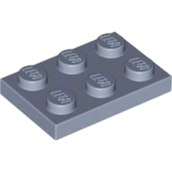 LEGO 4153276PLATE 2X3 - Sand Blue