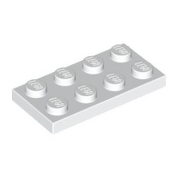LEGO 302001 PLATE 2X4 - BLANC