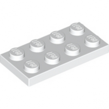 LEGO 302001 PLATE 2X4 - WHITE