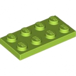LEGO 4122445 PLATE 2X4 - Bright Yellowish Green lego-4537936-plate-2x4-bright-yellowish-green ici :