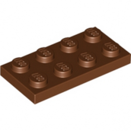 LEGO 4211186	PLATE 2X4 - Reddish Brown
