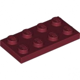 LEGO 4539071 PLATE 2X4 - NEW DARK RED lego-4539071-plate-2x4-new-dark-red ici :