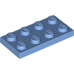 LEGO 4128581	PLATE 2X4 - Medium Blue