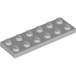 LEGO 4211452 PLATE 2X6 - MEDIUM STONE GREY lego-4211452-plate-2x6-medium-stone-grey ici :