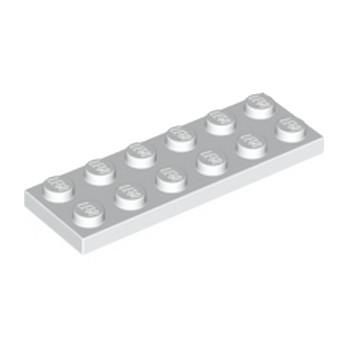 LEGO 379501 PLATE 2X6 - BLANC