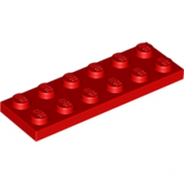 LEGO 379521 PLATE 2X6 - ROUGE