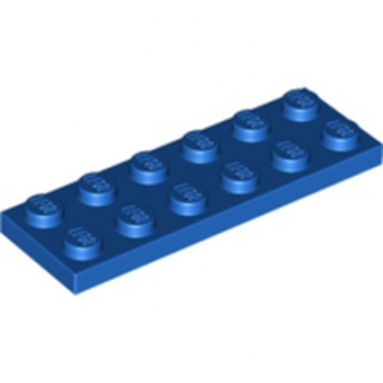 LEGO 379523 PLATE 2X6 - BLEU