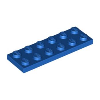 LEGO 379523 PLATE 2X6 - BLUE