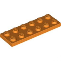 LEGO 4121741 PLATE 2X6 - ORANGE lego-4121741-plate-2x6-orange ici :