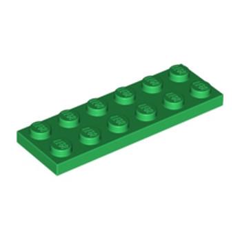 LEGO 379528  PLATE 2X6 - DARK GREEN