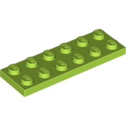 LEGO 4621548 PLATE 2X6 - BRIGHT YELLOWISH GREEN