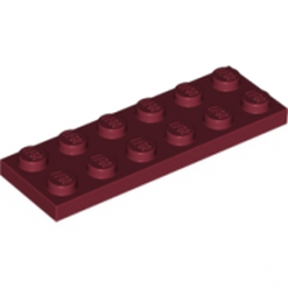 LEGO 164177 PLATE 2X6 - New Dark Red lego-4618986-plate-2x6-new-dark-red ici :