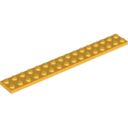 LEGO 6172377 PLATE 2X16 - Flame Yellowish Orange