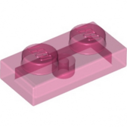 LEGO 6172369 PLATE 1X2 - ROSE TRANSPARENT
