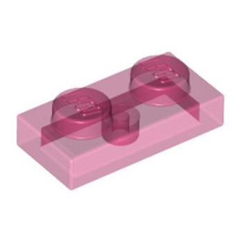 LEGO 6172369 PLATE 1X2 - ROSE TRANSPARENT