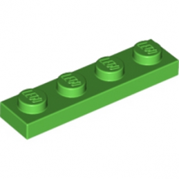 LEGO 6138515 PLATE 1X4 - Bright Green