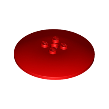 LEGO 6156534 PARABOLE 6X6 - ROUGE