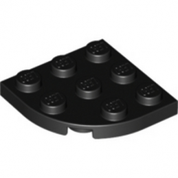LEGO 4227392 PLATE 3X3, 1/4 CIRCLE - NOIR