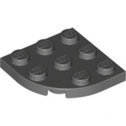 LEGO 4212075 PLATE 3X3, 1/4 CIRCLE - Dark Stone Grey