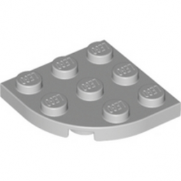 LEGO 4211756 	PLATE 3X3, 1/4 CIRCLE - Medium Stone Grey