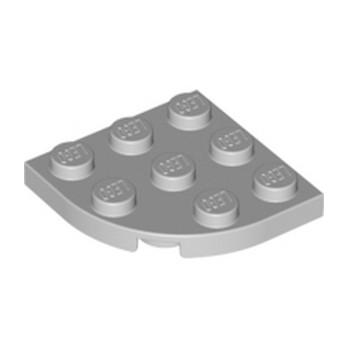LEGO 4211756 PLATE 3X3, 1/4 CIRCLE - Medium Stone Grey