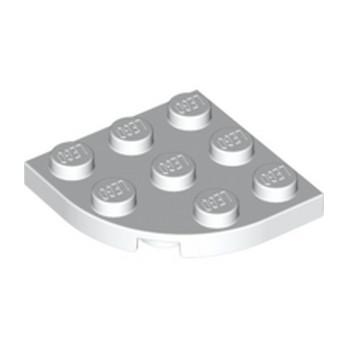 LEGO 4124432 PLATE 3X3, 1/4 CIRCLE - BLANC
