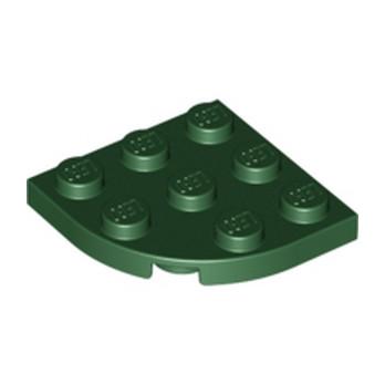 LEGO 6001836 PLATE 3X3, 1/4 CIRCLE - Earth Green