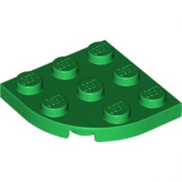 LEGO 6062166 PLATE 3X3, 1/4 CIRCLE - DARK GREEN