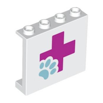 LEGO 6148268 - Mur/Cloison 1X4X3 -  Imprimé Friends