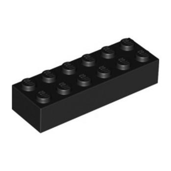 LEGO 245626 BRIQUE 2X6 - NOIR