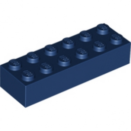 LEGO 6100239 BRIQUE 2X6 - EARTH BLUE