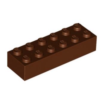 LEGO 4286200 BRICK 2X6 - REDDISH BROWN