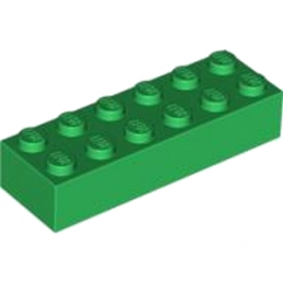 LEGO 245628 BRIQUE 2X6 - DARK GREEN lego-4181135-brique-2x6-dark-green ici :