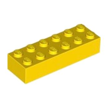 LEGO 245624 BRIQUE 2X6 - JAUNE lego-4181143-brique-2x6-jaune ici :