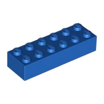 LEGO 245623 BRIQUE 2X6 - BLEU