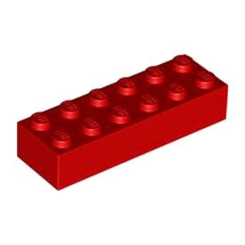 LEGO 245621 BRIQUE 2X6 - ROUGE lego-4181138-brique-2x6-rouge ici :