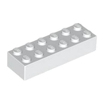 LEGO 245601 BRIQUE 2X6 - BLANC