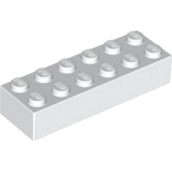 LEGO 245601 BRIQUE 2X6 - BLANC lego-4181142-brique-2x6-blanc ici :