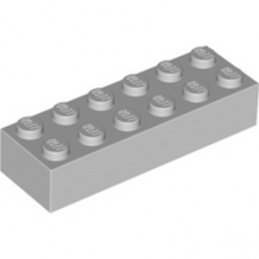 LEGO 4211795 BRIQUE 2X6 - MEDIUM STONE GREY
