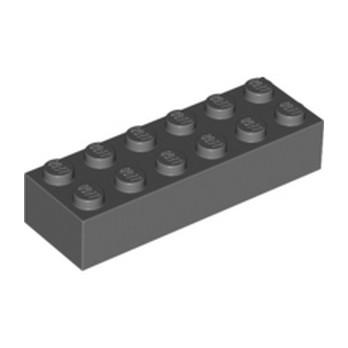 LEGO 4210875 BRIQE 2X6 - DARK STONE GREY