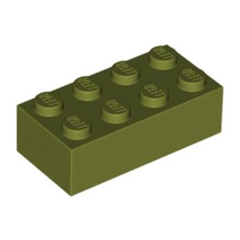 LEGO 6016460 BRIQUE 2X4 - OLIVE GREEN