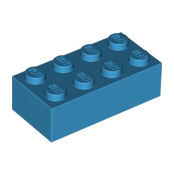LEGO 4655172 BRIQUE 2X4 - DARK AZUR lego-4655172-brique-2x4-dark-azur ici :