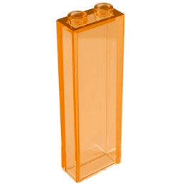 LEGO 6108173 BRIQUE 1X2X5 - ORANGE TRANSPARENT